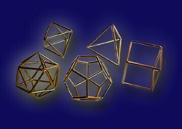 Set of Platonic Solids - Small