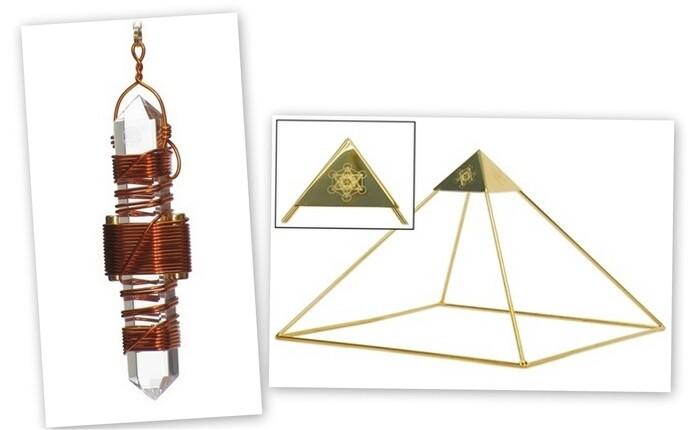 "Buddha Maitreya the Christ Meditator Set - Ascension Head Pyramid with 3.5"" Etheric Weaver"