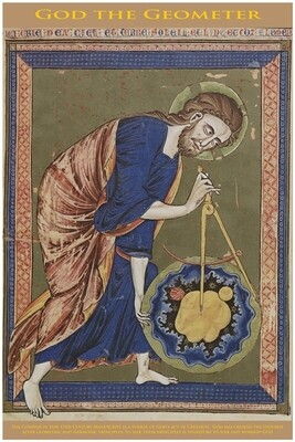 God the Geometer - Poster Print