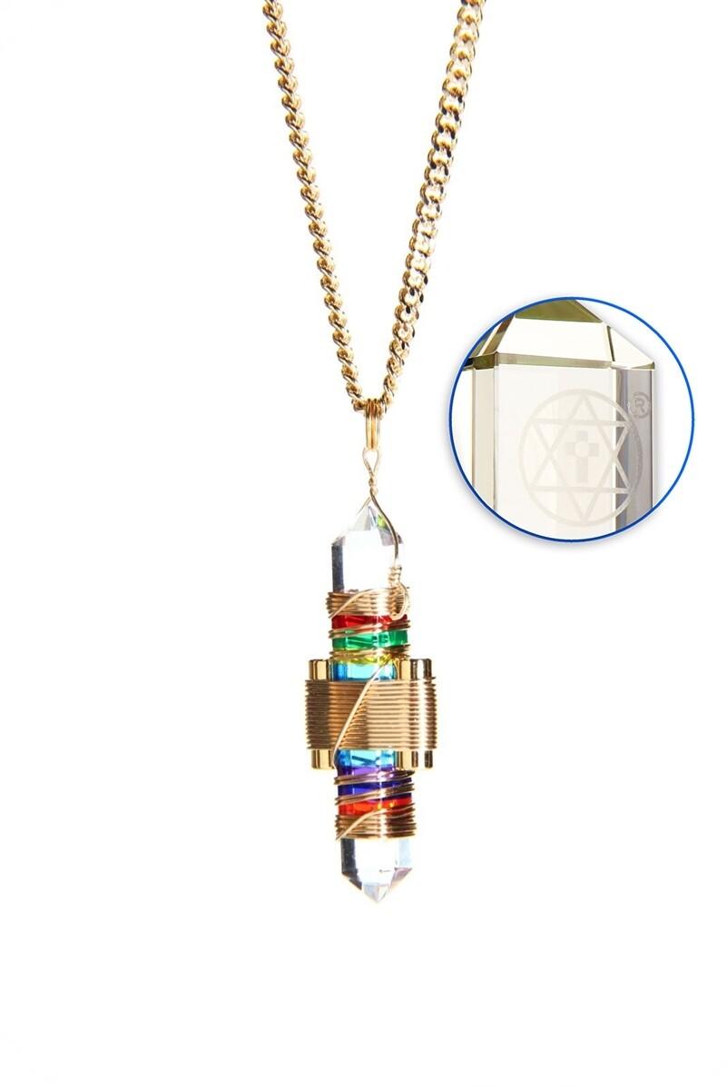 "Buddha Maitreya the Christ 1.75"" Etheric Weaver to Wear in Gold - 7 Rays of God Gel"