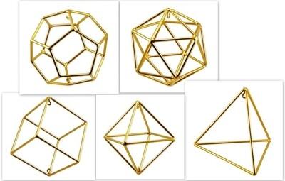 Set of Platonic Solids - Medium