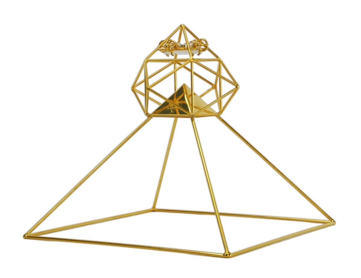 Buddha Maitreya the Christ Shambhala Solar Ascension Head Pyramid - Gold