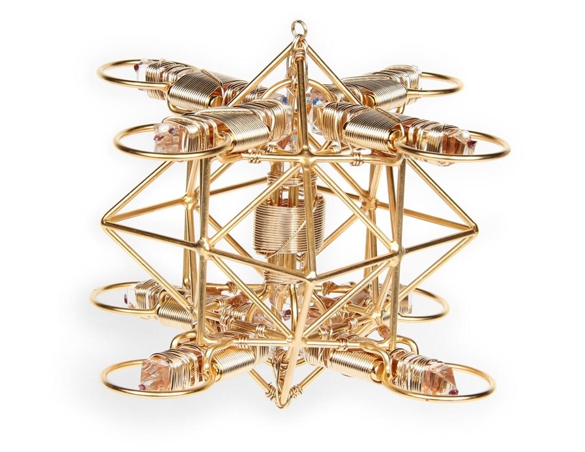 Buddha Maitreya the Christ - Small Maitreya Solar Cross - 12k Gold-fill Wire