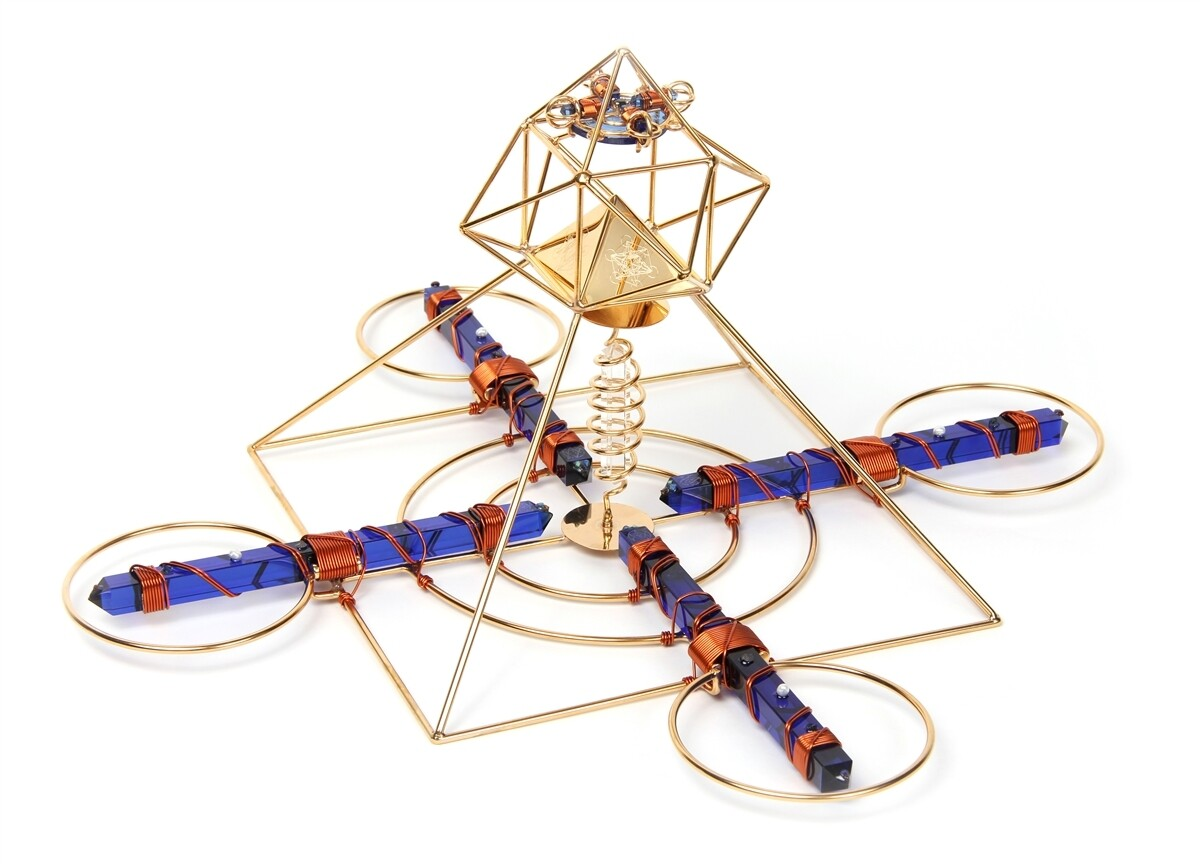 Buddha Maitreya the Christ Solar Cross with Sapphire