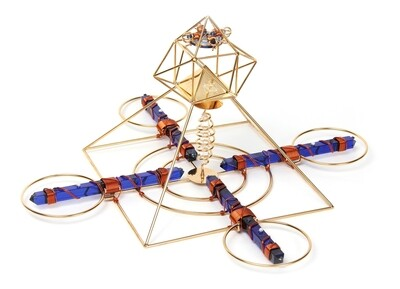 Buddha Maitreya the Christ Solar Cross with Sapphire