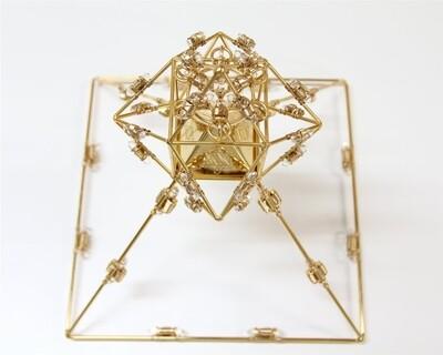 Buddha Maitreya the Christ Shambhala Solar Ascension Crystal Head Pyramid - 36 Gold