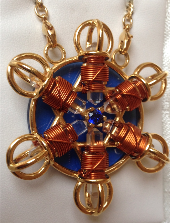 Buddha Maitreya the Christ 24K Gold-plated Shambhala Star with Copper wire