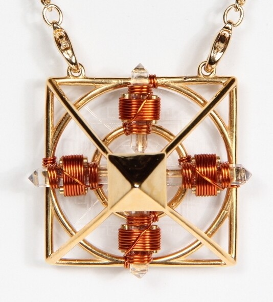 Buddha Maitreya the Christ 24K Gold-plated Ascension Sri Yantra Solar Form with Copper wire