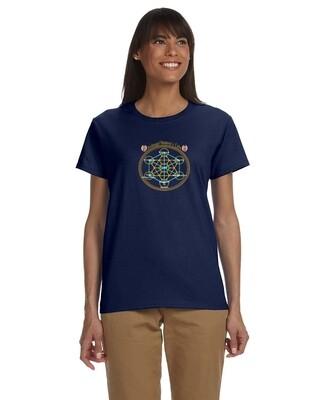 Navy Blue Women's Archangel Metatron T-Shirt
