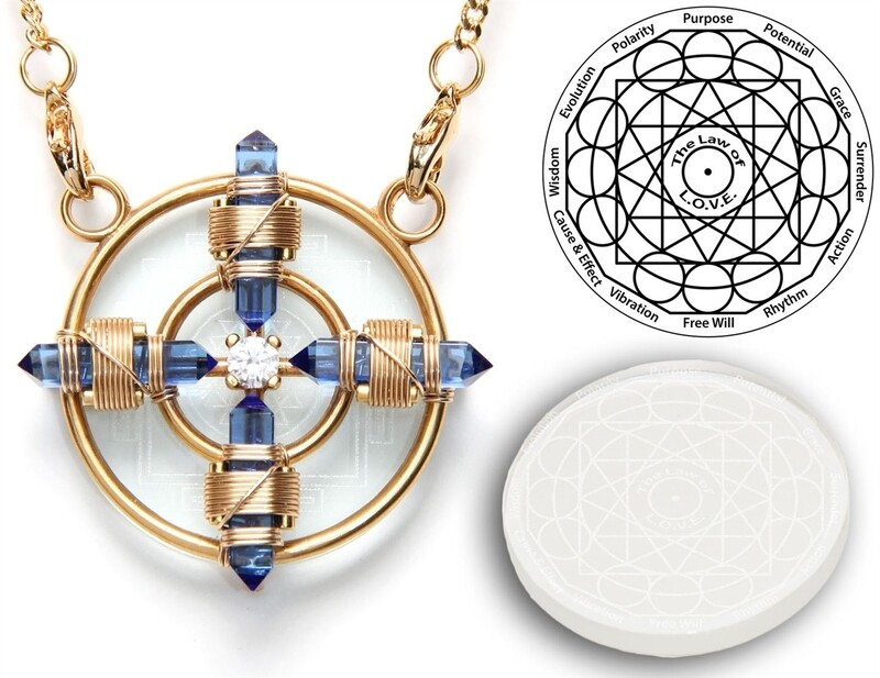 NEW Buddha Maitreya the Christ Sri Yantra Solar Form in 24K Gold Plate- 12K Gold-fill wire