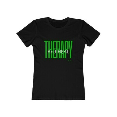 Women's Therapy And Heal Boyfriend Tee