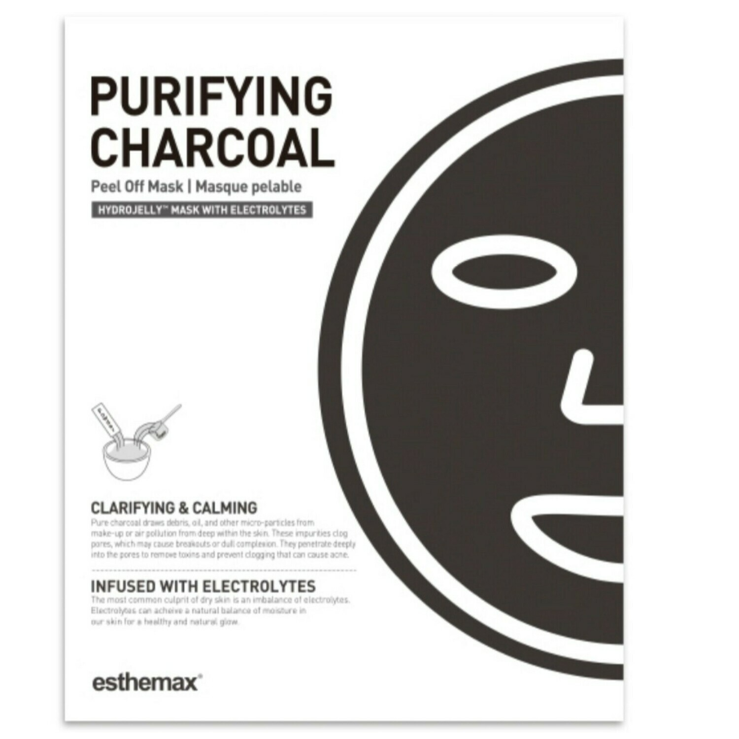 Purifying Charcoal HydroJelly Mask Kit (includes 2 masks)