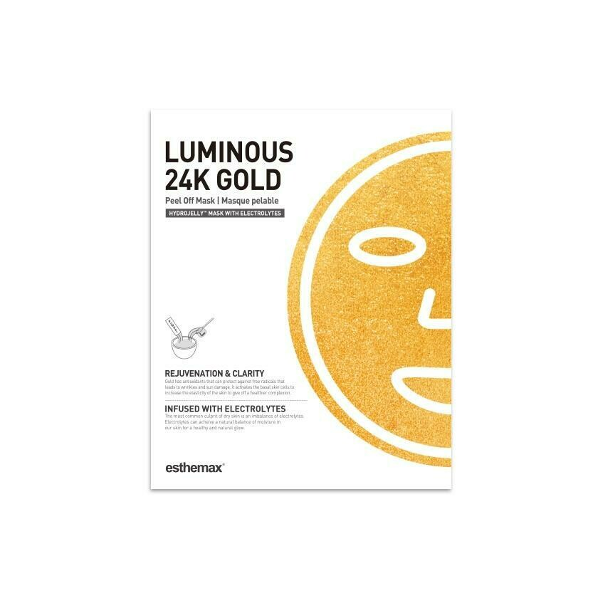 Luminous 24K Gold HydroJelly Mask Kit (includes 2 masks)