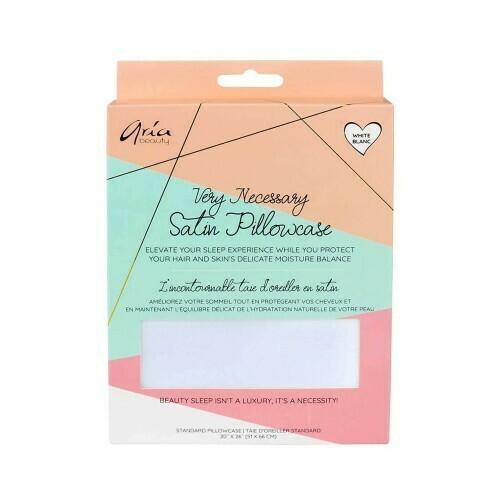 Aria Beauty Satin Pillowcase - White