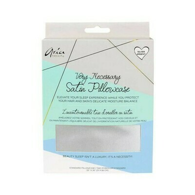 Aria Beauty Satin Pillowcase - Silver