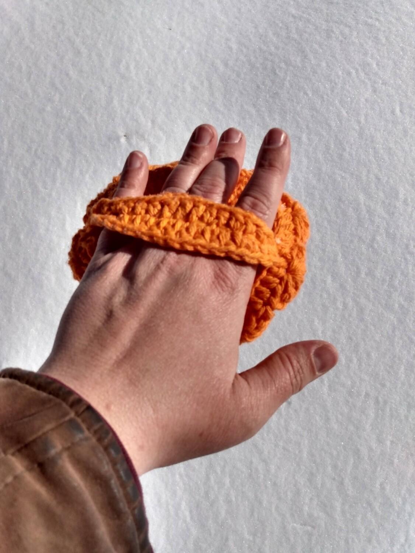 Bright Orange Loofah
