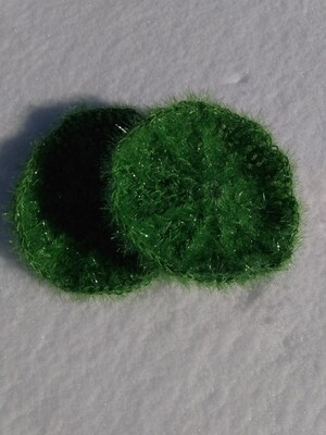 Crocheted Sanddollar Scrubbie Green