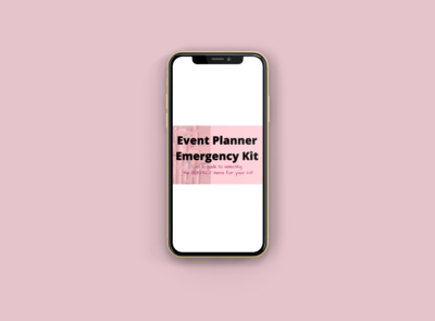 Event Emergency Kit Guide & List