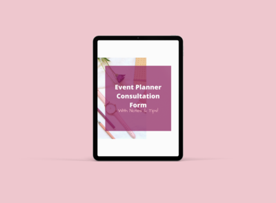 Event Planner Consultation Form