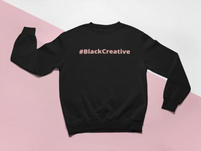 Black Creative Sweatshirt