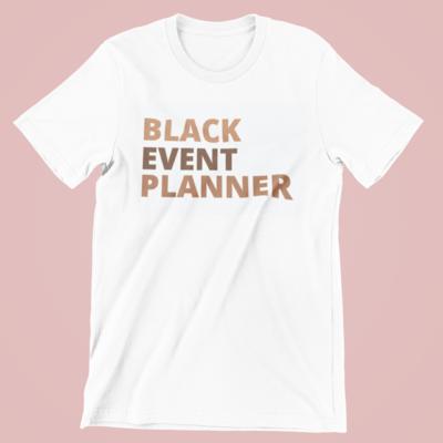 Black Event Planner Tee