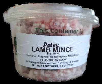 Certified Organic Lamb Mince