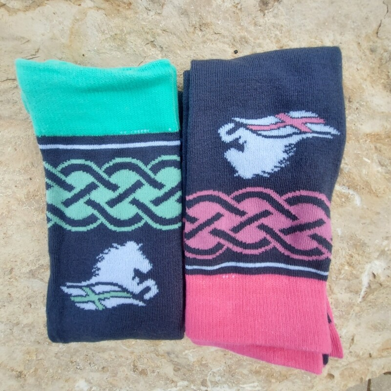 """Socks Deal """"Sæl"""" - cheerful, colorful riding companions made of bamboo blended fabric - Price for two pairs of your choice"""