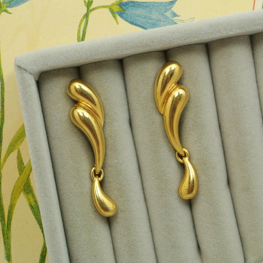 Золотистые серьги Avon, Америка