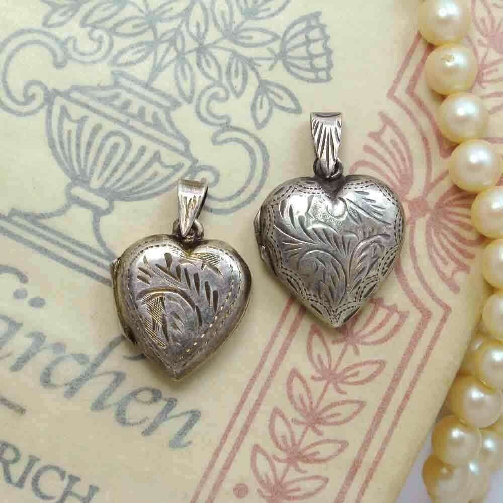 Винтажный медальон-сердце с гравировкой