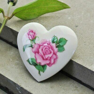 Винтажное сердечко с розой от Avon