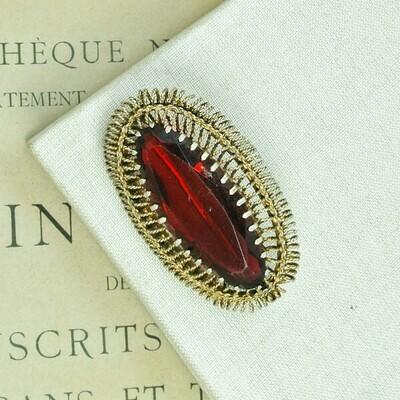 Брошь с рубиновым кристаллом, СССР