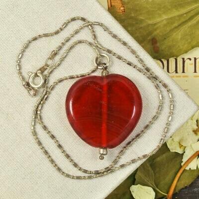 Подвеска-сердце на цепочке