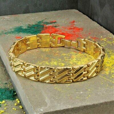 Золотистый винтажный браслет