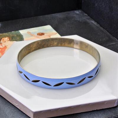 Винтажный голубой браслет с эмалью