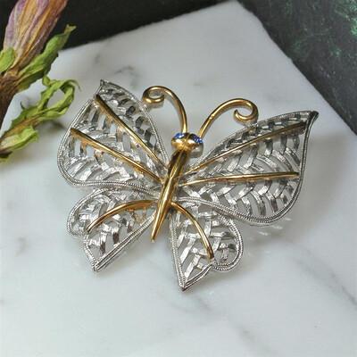 Винтажная брошь-бабочка Avon