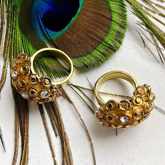 Кольца-осьминожки из винтажных клипс
