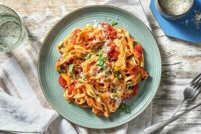 Tagliatelles sauce Tomate - basilic