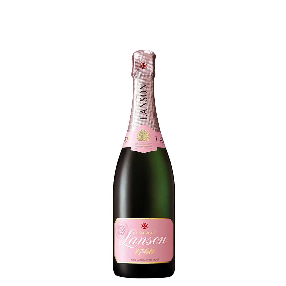 Rose Label Brut Rosé di Champagne Lanson