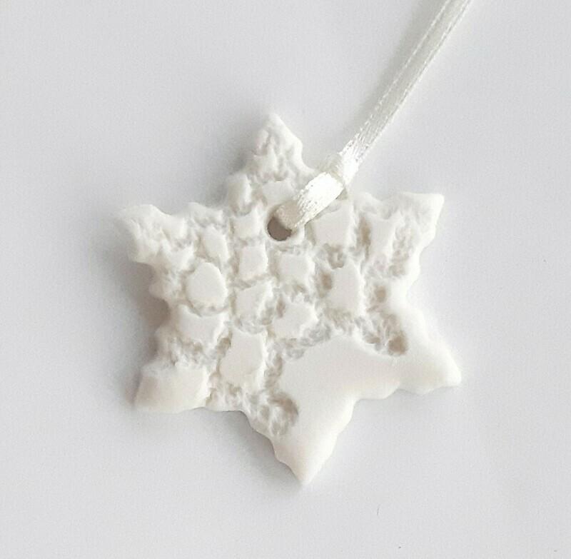 Porcelain Star tree decoration