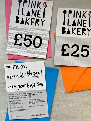 Gift Card (£10, £25, £50)