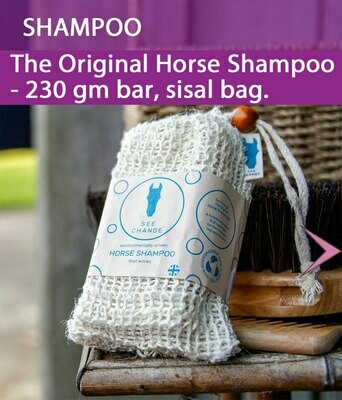 The Original Horse Shampoo - 230 gm bar, sisal bag. 00009