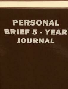PERSONAL BRIEF 5-YEAR JOURNAL