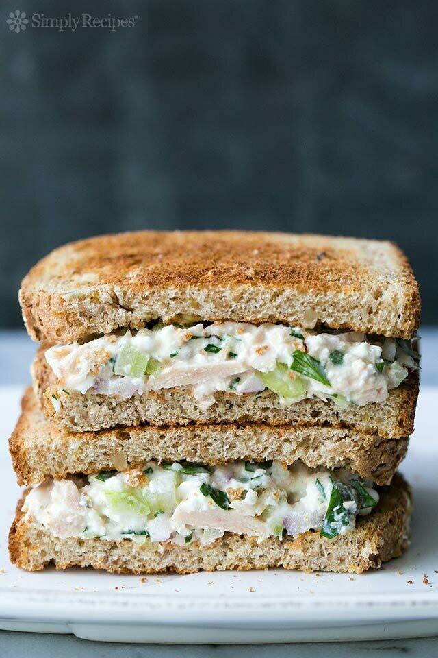 Chicken, Tuna, or Egg Salad Sandwich