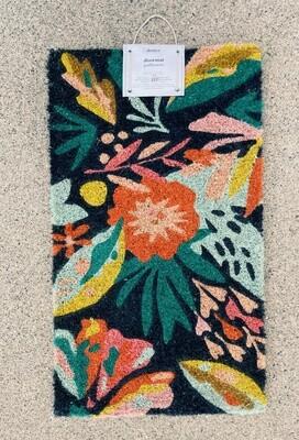 Multicolor Floral Door Mat