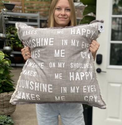 Sunshine Happy Oversized Pillow!