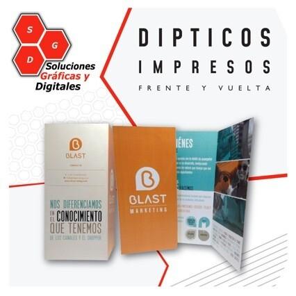 DIPTICOS / TRIPTICO x 1,000 pz