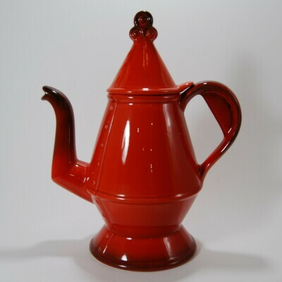 Metlox Poppytrail Red Rooster Red coffee pot