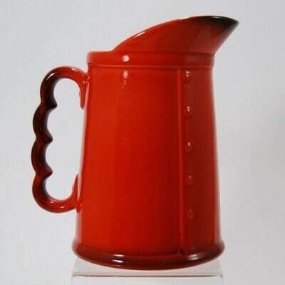 Metlox Poppytrail Red Rooster Red milk pitcher