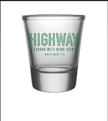 Highway Vodka Shot Glass