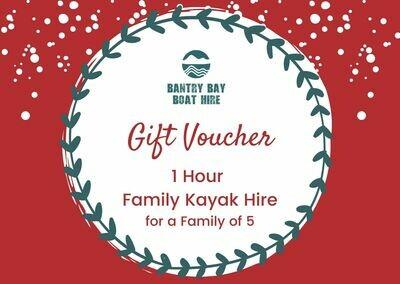 1 Hour Family Kayak Hire Voucher